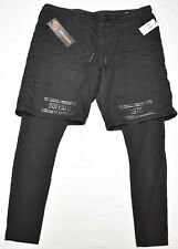 $109 NWT Mens Buffalo David Bitton Dean-X Leggings with Shorts Pants Sz XL N564