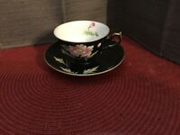 Thames China Cup And Saucer 4253 With Gold Handle And Gold Trim