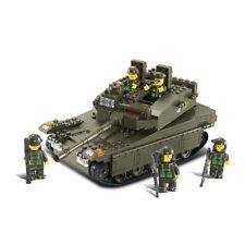 Sluban M38-b0305 Army Merkava Tank With 5 Mini Figures (344 Pieces)