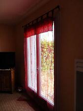 Lot de 2 voilages rouge à motifs 230*150 cm TBE