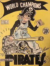 1961 Pittsburgh Pirates Yearbook World Champions 125482