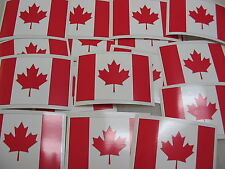 25 CANADA FLAG Sticker Decal LOT 4 boat car Window Truck suv Wholesale CANADIAN