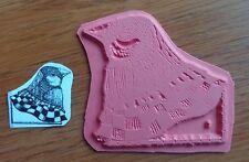 NEW! STEAMPUNK  BIRDIE IN A BANDANNA SIGN VIVA LAS VEGAS Unmounted Rubber Stamp