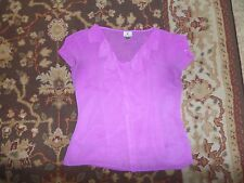 WORTHINGTON WOMEN'S PURPLE SHEER WITH CAMISOLE BLOUSE SIZE MEDIUM