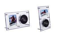 (NEW) Ultra Pro Hockey Puck Flip Display, Clear Acrylic Puck & 35pt Card Holder