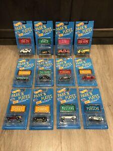 1988 vintage Hot Wheels Park N Plates Collection 12 Cars Lot Sealed