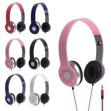 STEREO HEADPHONE DJ STYLE FOLDABLE HEADSET EARPHONE OVER EAR MP3 4 IPOD 3.5MM UK