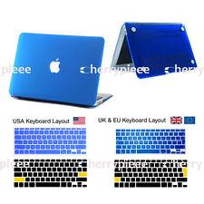 Smart Matt Hardshell Hard Case &Keyboard Soft Cover Skin For Laptop Mac MacBook