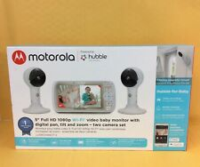 "Motorola 5"" Full Hd 1080p Wifi Video Baby Monitor Lux65Connect-2 White Brand New"