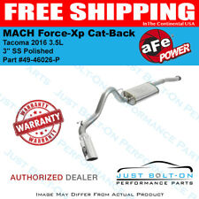 """aFe MACH Force-Xp 3"""" SS Cat-Back Polished for Tacoma 2016 3.5L #49-46026-P"""