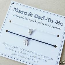 MAMMA-To-Be & Dad-To-Be Gravidanza Baby charm bracelets-BABY SHOWER Regalo