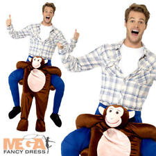 Piggyback Monkey Adult Fancy Dress Animal Ape Safari Zoo Ride On Costume Outfit