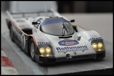 CODEX Finish Line + NIGHT VERSION PORSCHE 962c #1 Le Mans 1986 DIRTY Norev 1:18