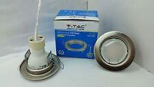 faretto ad incasso metallo acciaio satinato V-TAC foro 50 completo di lampada5w