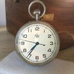 Ship's Marine chronometer 60ChP 53303 Poljot Kirova 1 MChZ table clock 1966h