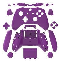 Purple Matt Xbox One S X Controller Replacement Shell Case w/ Buttons Mod Kit