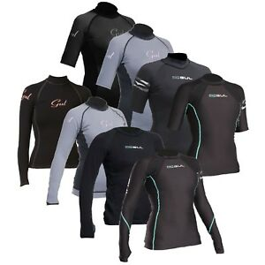 Gul Ladies Evotherm Thermal Wetsuit Rash Vest Base Layer UV+ Guard Swim SUP