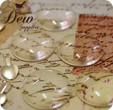 10 x 25mm (1 inch) Round Glass Dome Magnifying Cabochons Cabs