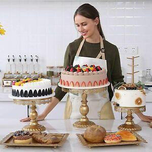 6Pcs Cake Cupcake Stand Display Dessert Holder Wedding Party Crystal Decor Set