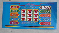 Vintage Thin Plastic The Drop Slot Machine Payout Face Plate Insert LOOK