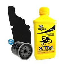 Kit tagliando Bardahl XTM 5W40 filtro olio aria originale Piaggio 82635R 843194