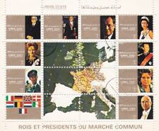 Ajman State 1972 Royal and Presidents of the European Union Sheet of 16 Used VGC