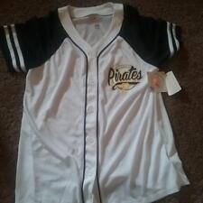 NEW GIRLS MLB PITTSBURGH PIRATES WHITE BASEBALL JERSEY SIZE YOUTH 7/8