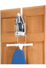 Iron Holder Hanging Wire Caddy Hook Over The Door Wall Ironing Board Storage New