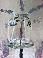 "Vtg 1970s Hart Comic Strip BC Caveman 3.25"" Drink Glass Marathon Oil Gas Station"