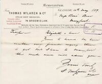 Thomas McLaren & Co Steam Ship Brokers Memorandum 1889 Elizabeth + Ann Ref 35906