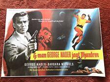 G-Man George Nader jagt Phantom Kinoplakat Poster A1, 1965, Quer, B. Nichols