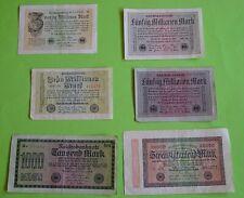 6 BANKNOTEN / INFLATIONS - GELDSCHEINE / REICHSBANK / WEIMARER REPUBLIK / Pack 1