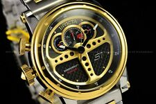 Invicta 48mm S1 Rally Behind the Wheel Dashboard on ur Wrist Gold 2 Tone Watch