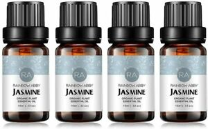 RAINBOW ABBY 4 Pack 10ML Jasmine Oils 100% Pure Therapeutic Grade Essential Oils