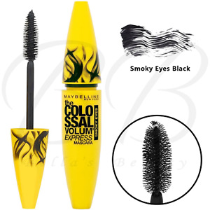 MAYBELLINE The Colossal Volum' Express Smoky Eyes Black Kohl Mascara 10.7ml  NEW