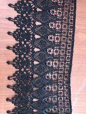 Venice Lace Trim  4'5  Rayon Black Venice Lace Trim!