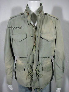 New RALPH LAUREN D&S M65 Military Vintage Rugged Summer Field Jacket size L