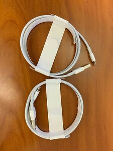 Lot of 2 Genuine Apple Lightning to USB Cable - 1m, White (MD818ZM/A)