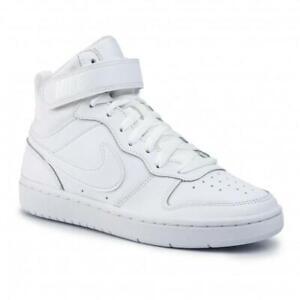 Scarpe ragazzi donna Nike Court Borough Mid 2 bianco modello air force tg 38.5