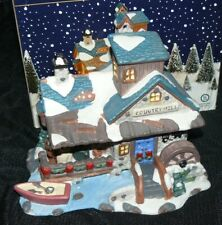 Christmas Streets Lighted Christmas Village House Country Mill MIB
