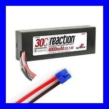 DYNAMITE REACTION 7.4V 4000MAH 2S 30C LIPO HARDCASE EC3 PLUG LOSI PROBOAT !!