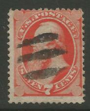 STAMPS-UNITED STATES. 1871. 7c Deep Vermilion, With Grill. SG: 140/Scott 138