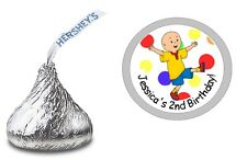 CAILLOU PERSONALIZED HERSHEY KISS KISSES LABELS STICKERS BIRTHDAY PARTY FAVORS