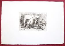 Eau-forte originale,Bataille de Chatillon, Andrieux, Cadart, XIXe