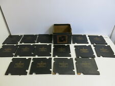 ANTIQUE 1891 PAINE'S WHIST TRAYS DEALER BRIDGE CARD HOLDER SET IN BOX (-1)