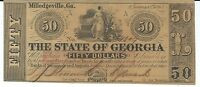 $50 1865 Georgia Milledgeville red overprint #1309