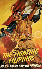 Fighting Filipinos WW2 US Military Vintage Poster 18x24
