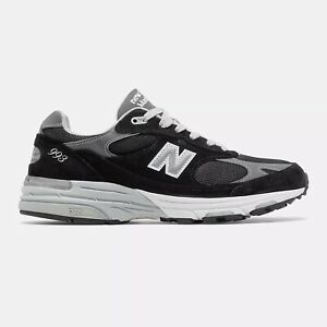 NWB New Balance Mens Made in US 993 Black with grey FREE SHIPPING