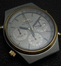 Vintage Chronograph Seiko 7A38-7190 Stainless Steel Stunning Condition!
