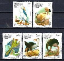 Animaux Préhistoriques Laos (36) série complète 5 timbres oblitérés